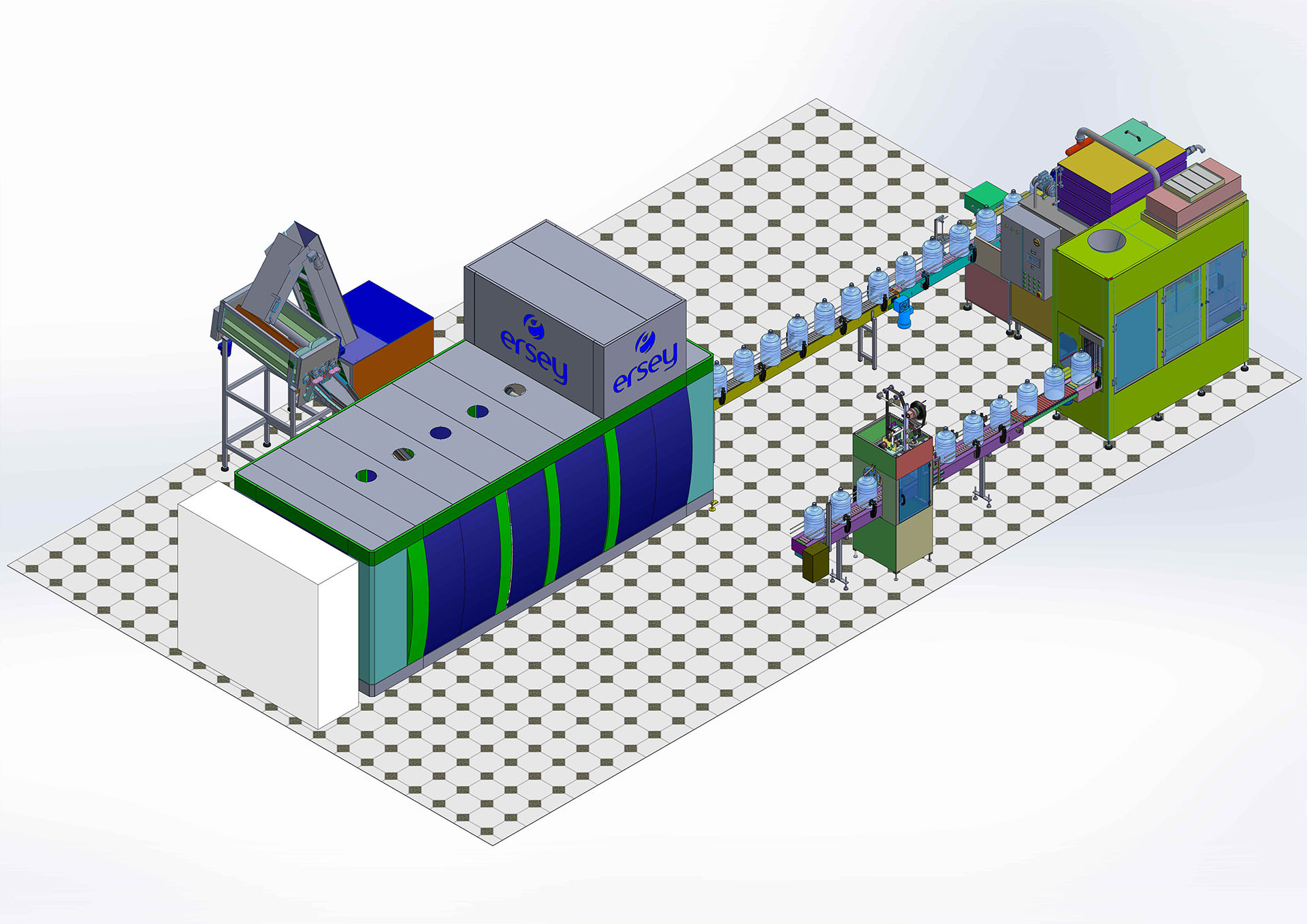 POLYCARBONATED FILLING LINE -NONRECYCLE